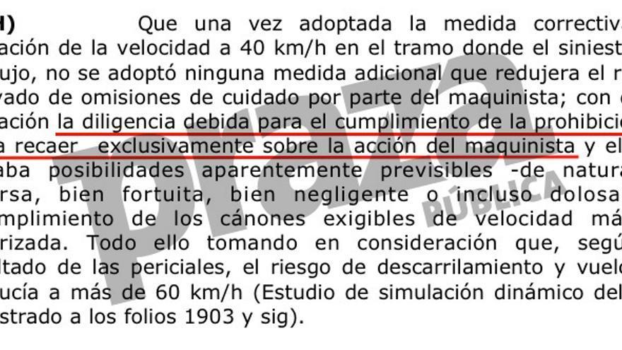 La Audiencia de Valencia relata cómo no se adoptó ninguna medida adicional que hacer responsable al maquinista