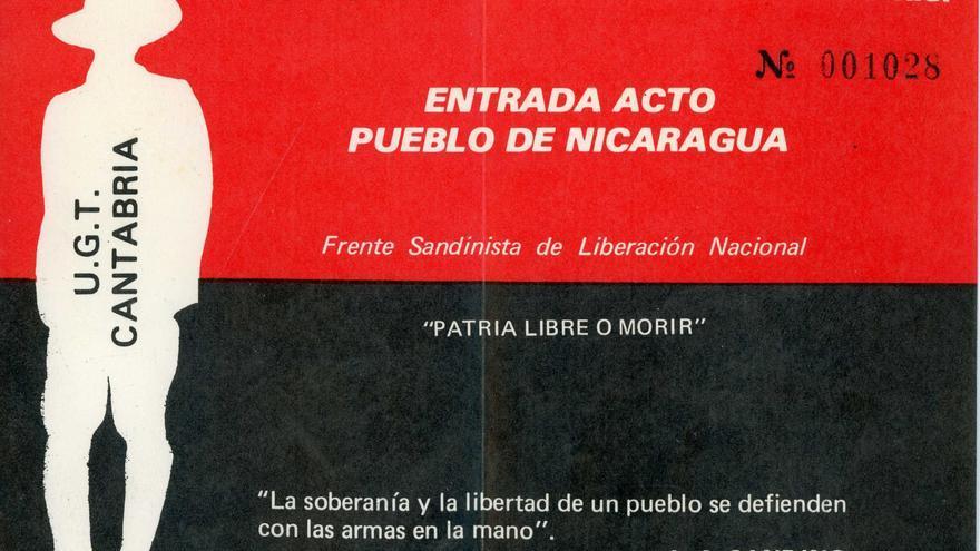 Entrada al concierto-festival en apoyo al Frente Sandinista celebrado en Santander. | DESMEMORIADOS