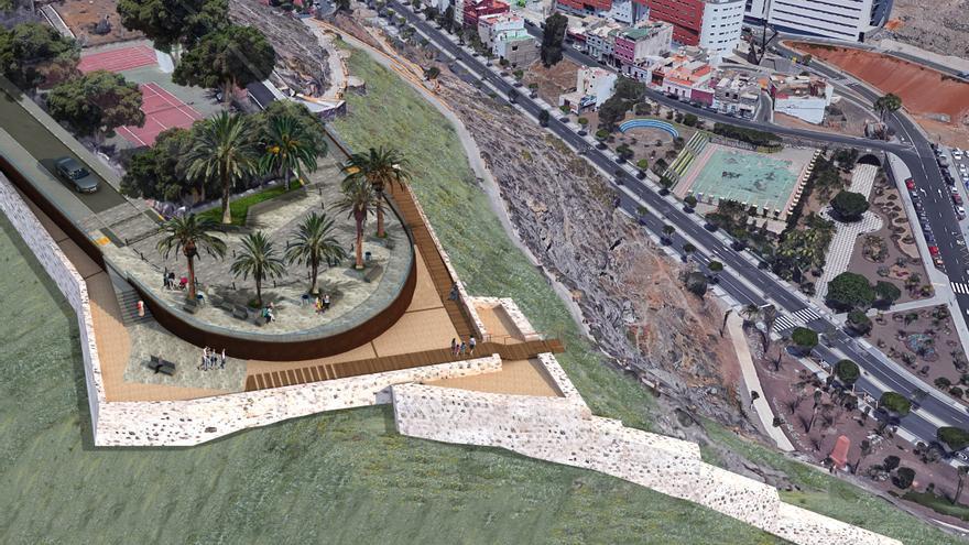 Las Palmas De Gran Canaria Inicia La Construcción Del Mirador De Punta De Diamante En San Nicolás