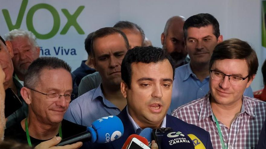 El candidato de Vox al Congreso por Las Palmas, Alberto Rodríguez Almeida.