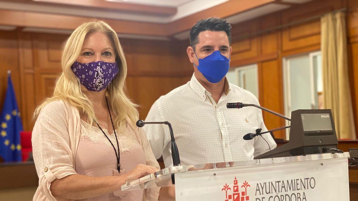 Cristina Pedrajas y Pedro García.
