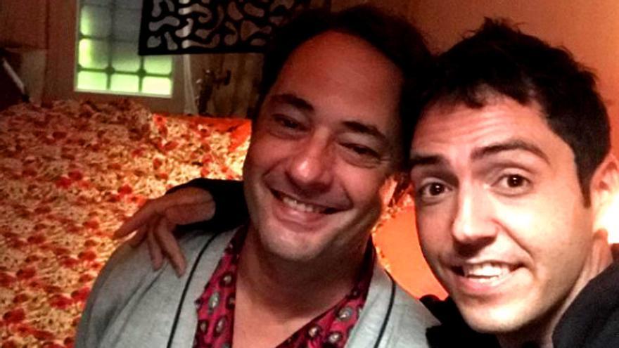Jordi Sánchez y David Guapo, juntos en el rodaje de 'Señor, dame paciencia'
