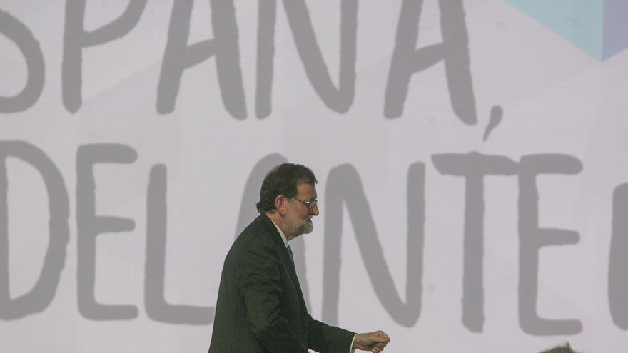 Mariano Rajoy, antes de su discurso en el 18 Congreso del PP
