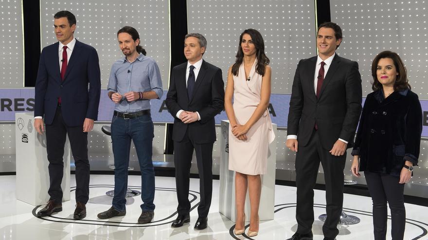 Un sondeo apunta a Santamaría como ganadora del debate a cuatro y deja a Pedro Sánchez en último lugar