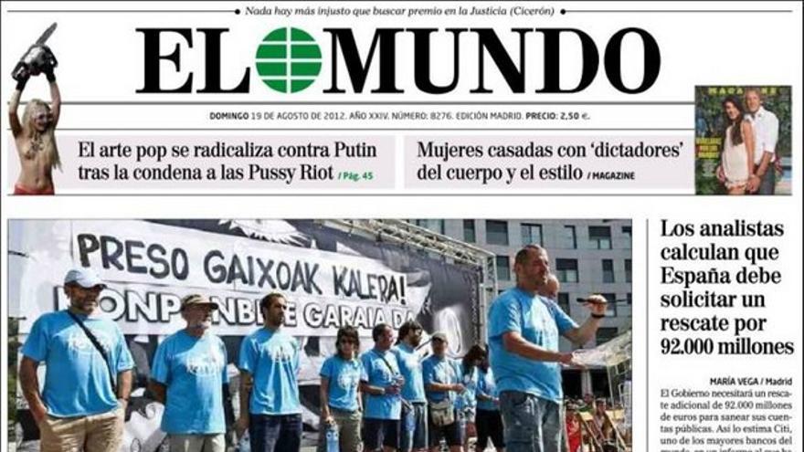 De las portadas del día (19/08/2012) #7