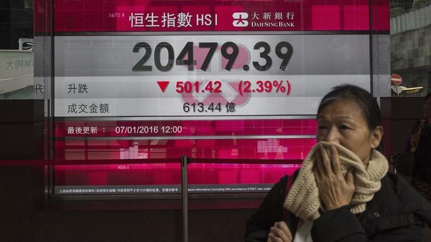 El Hang Seng baja el 0,16 % a media sesión