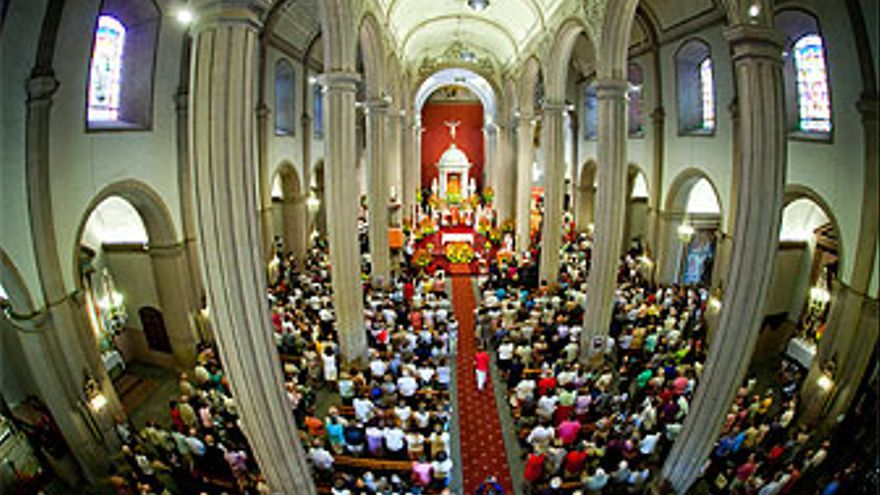 Interior de la Iglesia de Santiago. (CANARIAS AHORA)
