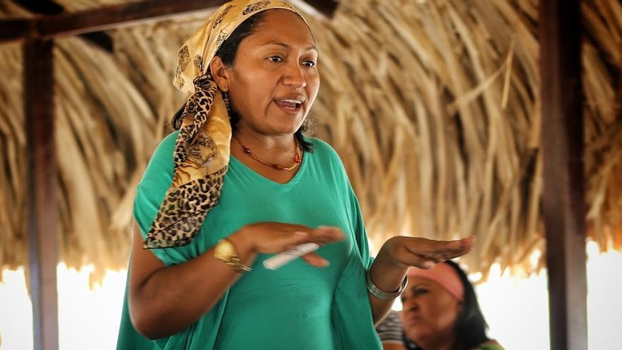 La líder wayúu Jakeline Romero. Foto: Blog Notiwayúu