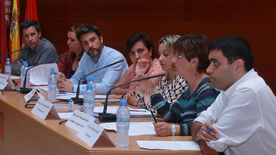 Un momento del debate entre partidos organizado por CONGD Región de Murcia