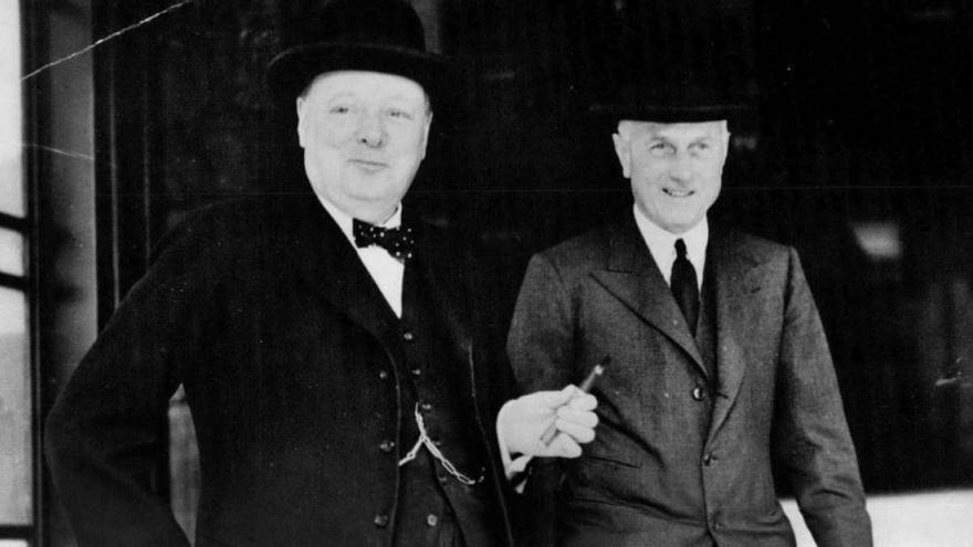 Winston Churchill y Samuel Hoare, embajador británico en España, en 1937