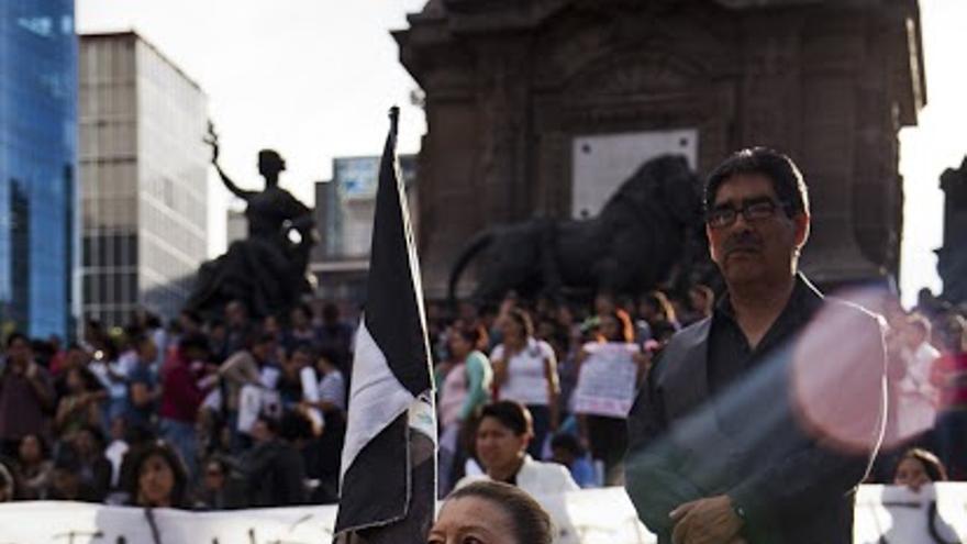 Protestas de solidaridad con Ayotzinapa (fotogragía: Isabel Sanginés)