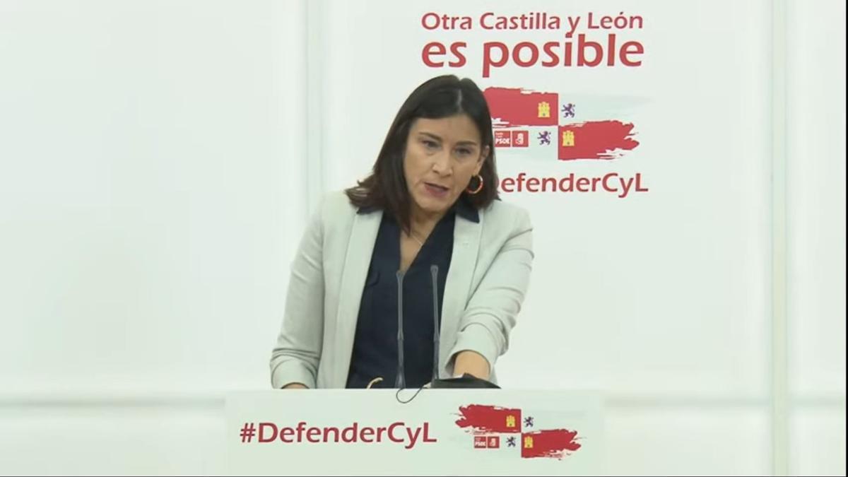 Ana Sánchez comparece en rueda de prensa, en una imagen de archivo.