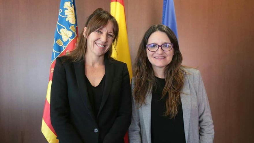 Inmaculada Herranz y Mónica Oltra en su reunión de esta semana