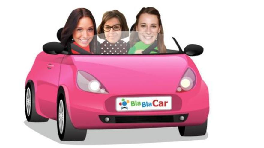 Imagen promocional de Blablacar. Su director para España, Rosso, reivindica a esta plataforma como alternativa para la movilidad.