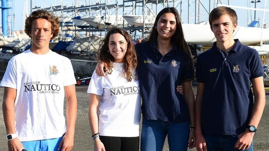 De izquierda a derecha: Ángel Granda, María Caba, Carla Díaz y Jorge Cantero.