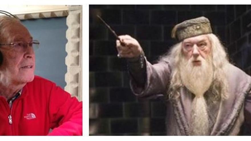 Claudio Rodríguez, ganador del premio TAKE de doblaje a mejor actor de doblaje año en 2017 por interpretar a Dumbledore, entre otros personajes
