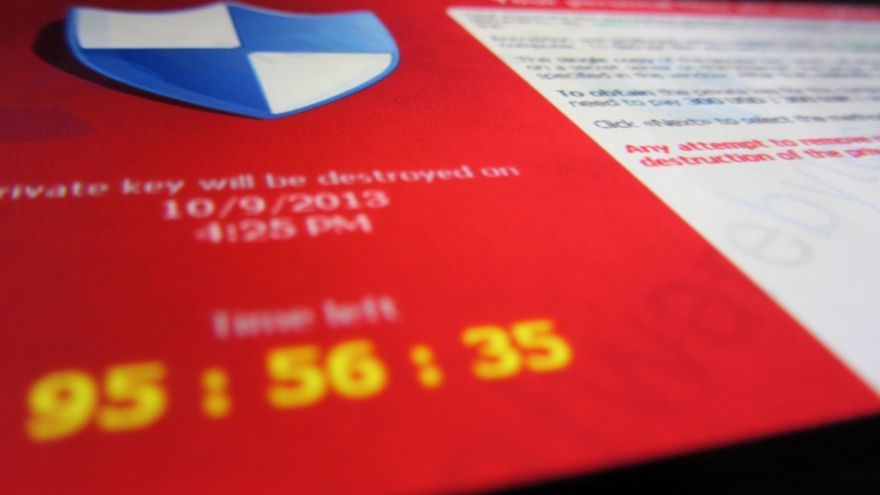 Cryptolocker ransomware. Foto: Flickr