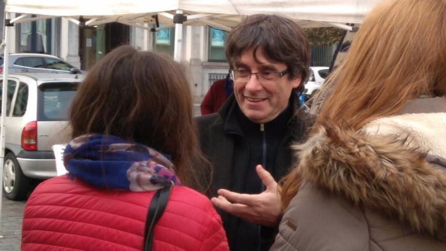 Carles Puigdemont, este martes frente al Parlamento Europeo.