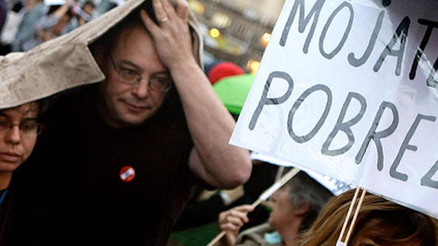 Una manifestación contra la pobreza.