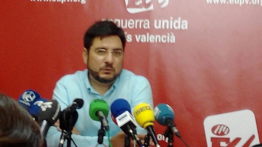 """El candidato de EUPV en la Comunidad Valenciana dimite de sus cargos en EUPV y seguirá como """"militante activo"""""""
