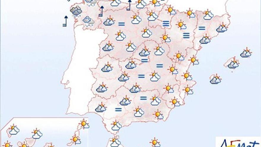 Precipitaciones persistentes y viento fuerte en el oeste de Galicia