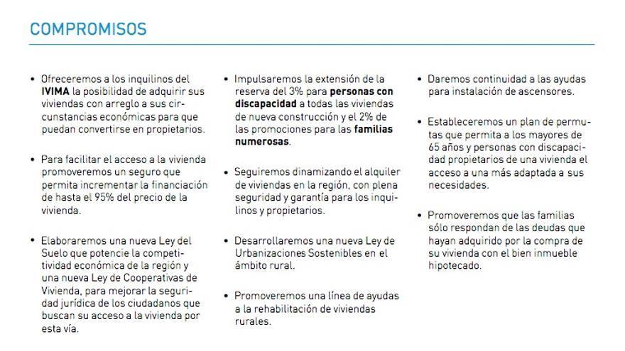 Programa electoral del PP de Madrid de mayo de 2011.