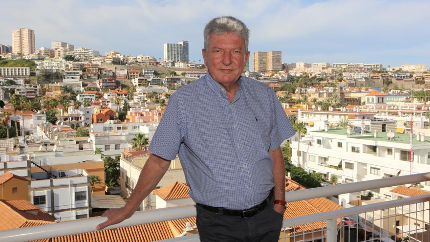 El concejal del Ayuntamiento de Las Palmas de Gran Canaria (NC), Pedro Quevedo Iturbe, en su oficina municipal.