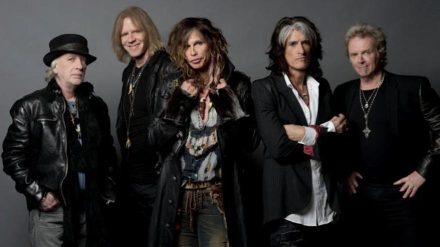Imagen promocional de Aerosmith, que actúa en Santa Cruz este sábado