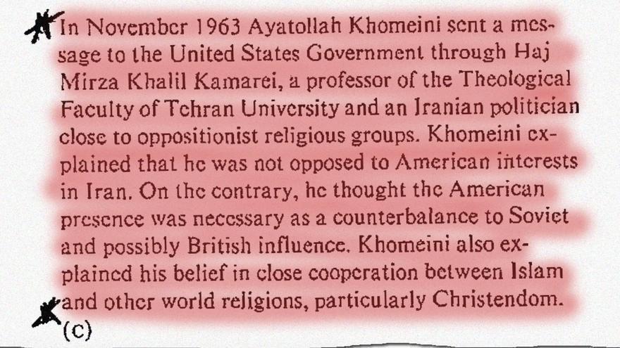 Uno de los documentos de la CIA desclasificados.
