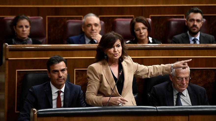 Calvo admite que el Gobierno no puede impedir que Franco sea enterrado en la cripta de La Almudena