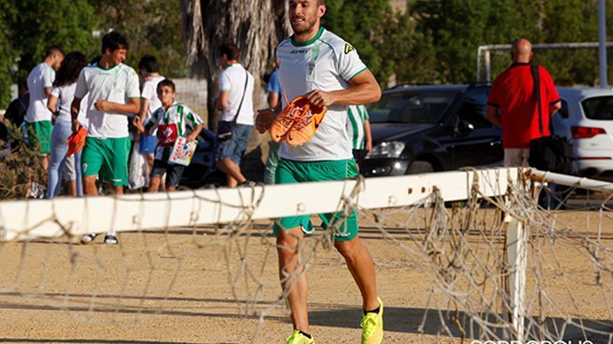 Xisco, en un entrenamiento en la Ciudad Deportiva | ÁLVARO CARMONA
