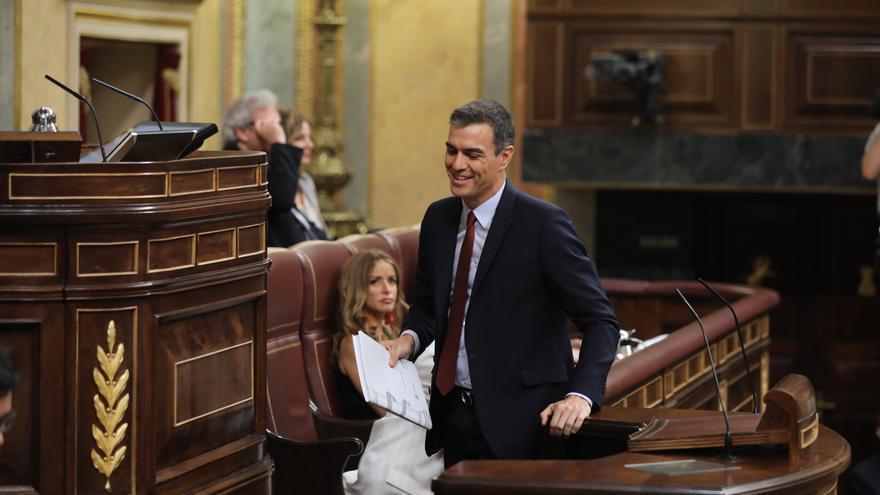 Pedro Sánchez, en el debate de investidura. Foto: Marta Jara