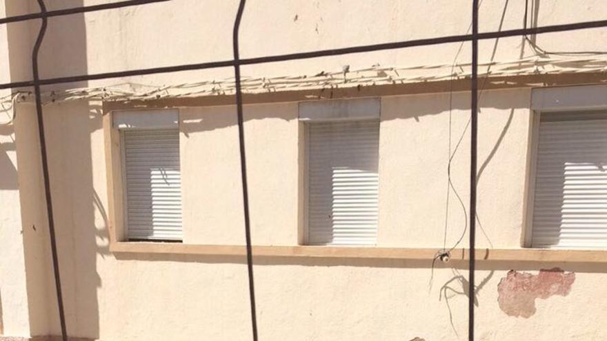 Escombros tras la explosión en la vivienda de Agüimes.