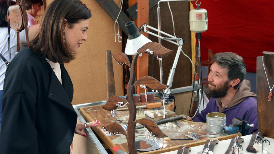 Pilar Zamora, ayer, en el Mercado Cervantino