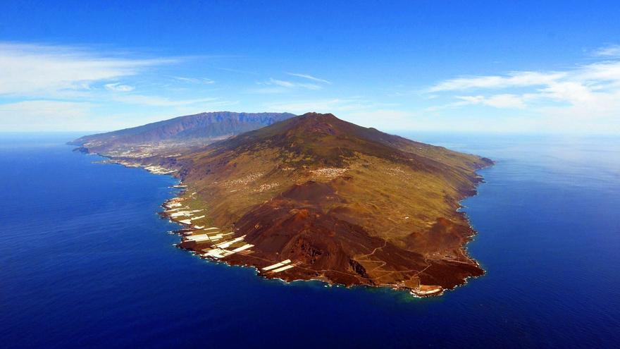 Panorámica del volcán Cumbre Vieja.Foto: Involcan.