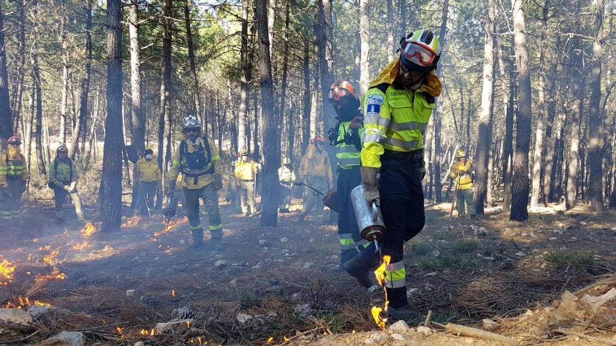 Extinción de incendios en Castilla-La Mancha