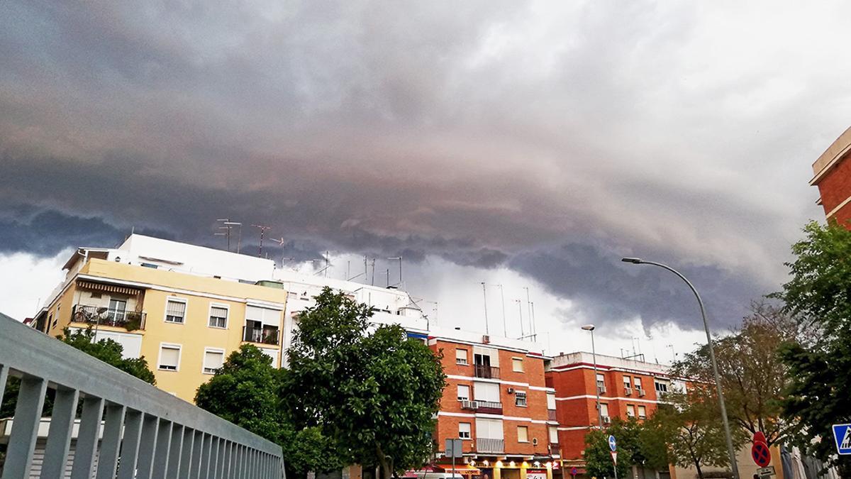 Tormenta el 16 de abril en el barrio de Fátima