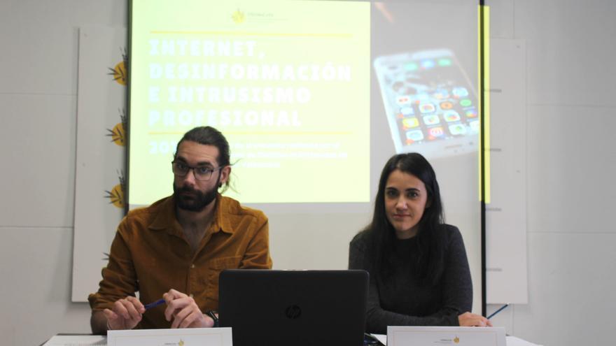 Luis Cabañas y Rocío Planells en la presentación del estudio