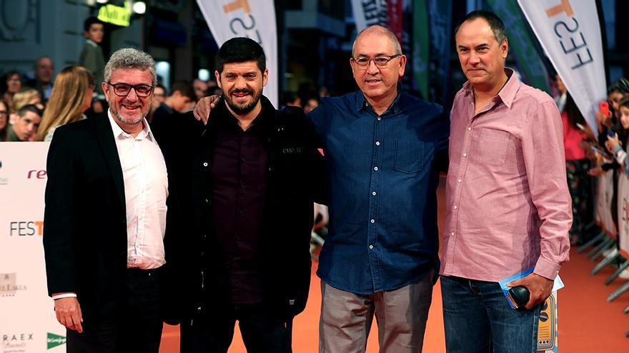 Valentín, Manu, Alberto y Erundino en el FesTVal de Vitoria
