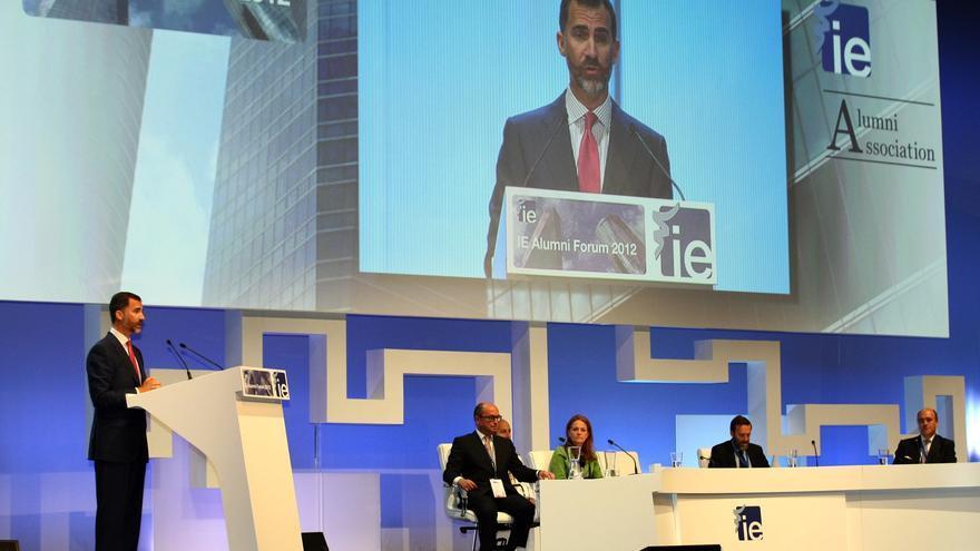 El Príncipe reivindica la labor de empresarios y emprendedores para aprovechar las oportunidades de la crisis