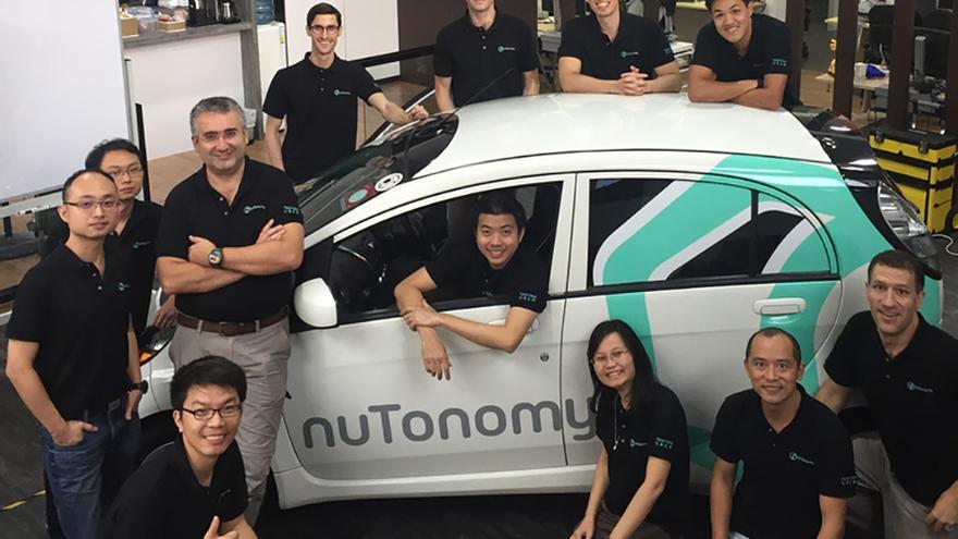 El sistema de Nutonomy, embarcado en un Mitsubishi i-MiEV