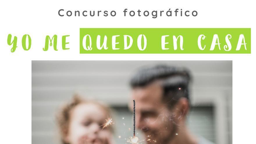 Cartel del concurso fotográfico infantil 'Yo me quedo en casa'.