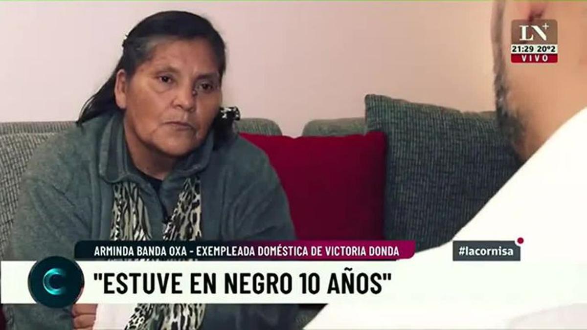 Arminda Banda Oxa, ex empleada doméstica de Donda.
