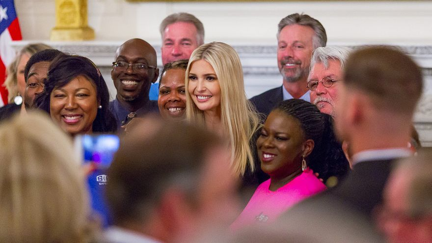 Ivanka Trump, durante el evento 'Our Pledge to America's Workers'