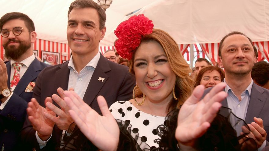 Susana Díaz y Pedro Sánchez vuelven a coincidir en la Feria de Sevilla dos años después