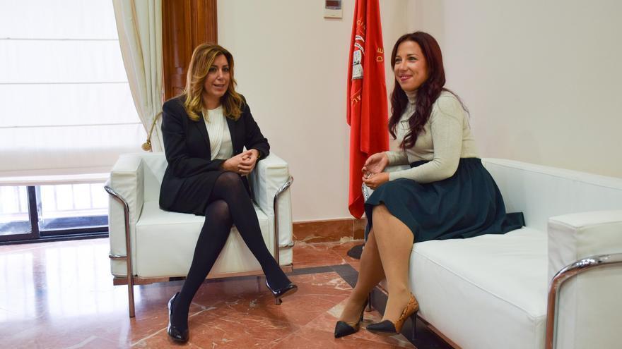 Reunión entre Susana Díaz y Patricia Hernández.