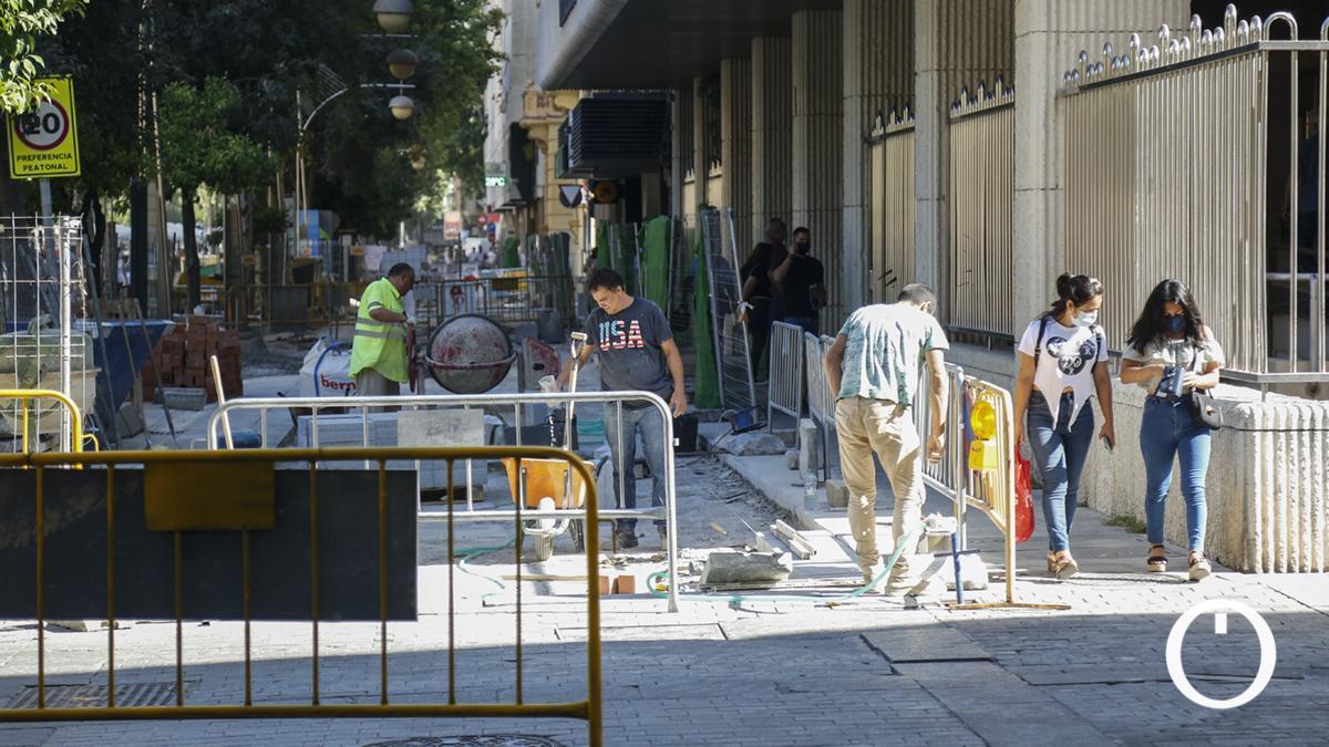 Reparación del pavimento del bulevar