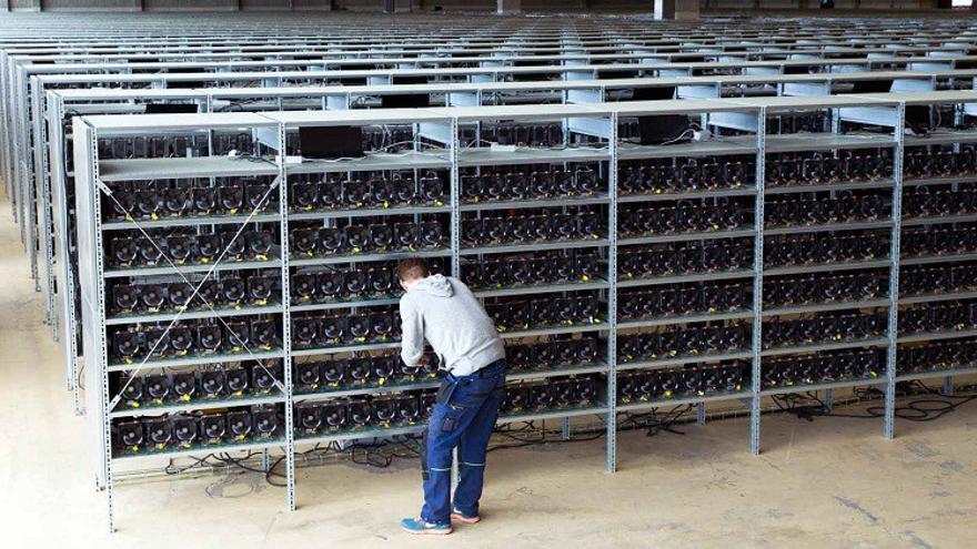 Una granja de minería