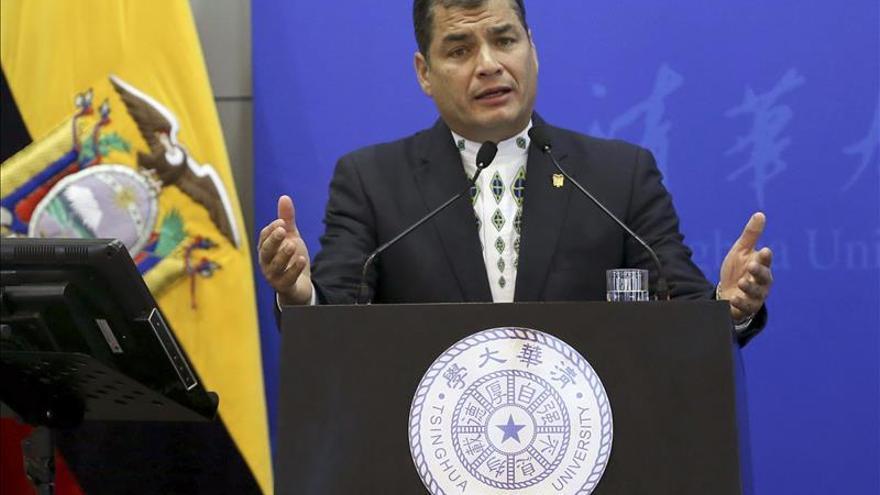 """Correa cree una """"broma de mal gusto"""" que EE.UU. declare como """"amenaza"""" a Venezuela"""