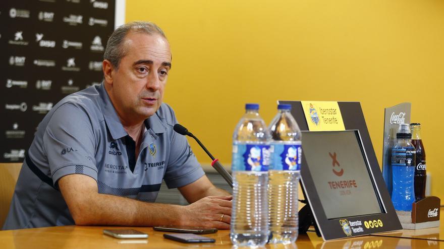 Txus Vidorreta en la rueda de prensa previa al Manresa-Iberostar de este domingo.